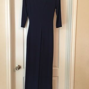 Laundry By Shelli Segal Dresses - Laundry Navy Blue dress with side slit and ruche